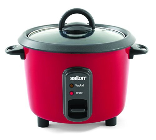 Salton 8-Cup Automatic Rice Cooker, Red