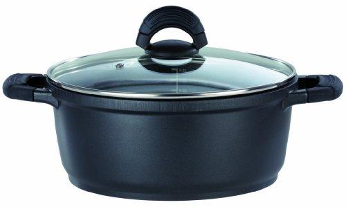 GSW SilcoGUSS noir (シリコガス ノワール) アルミ鋳造鍋 16cm x 8.8cm【IH&直火用】(正規10年保証付き)
