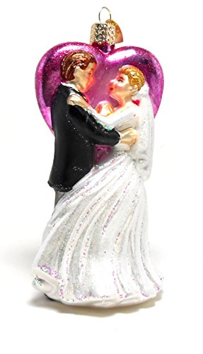 Old World Christmas Wedding Dancers Glass Blown Ornament