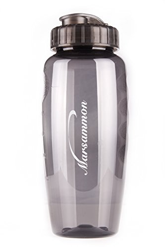 Best Large Water Bottle, Bpa Free, 30Oz, Made In Usa, Environmentally Safe, Sports Reusable Bottle, Leak-Resistant Super Sipper Lid (Smoke)