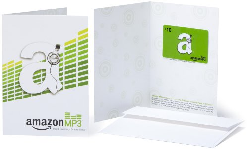 Amazon.com Gift Card with Greeting Card - $10 (MP3)