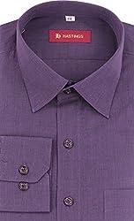 HASTINGS Men's Formal Shirt (V67_40, Purple, 40)