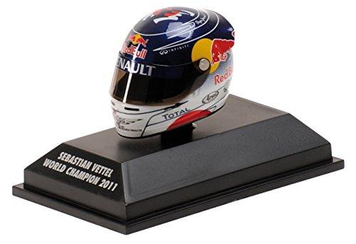 S. Vettel Red Bull GP Suzuka Formel 1 Weltmeister 2011 Helm 1:8 Minichamps