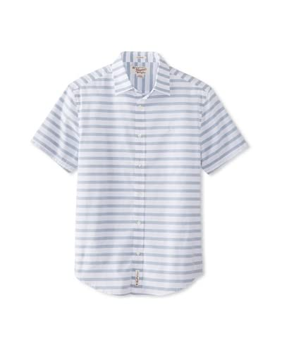 Original Penguin Men's Short Sleeve Stripe Woven Shirt