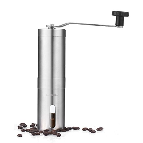 Luxebell Manual Coffee Grinders Made of Stainless Steel Rotating Handle Adjusting Wheel