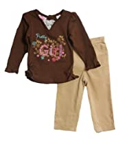 Young Hearts Baby-Girls Infant Pretty Girl, Brown, 12 Months