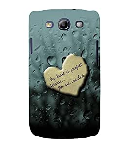 PrintVisa Romantic Love Quotes 3D Hard Polycarbonate Designer Back Case Cover for Samsung Galaxy S3 Neo