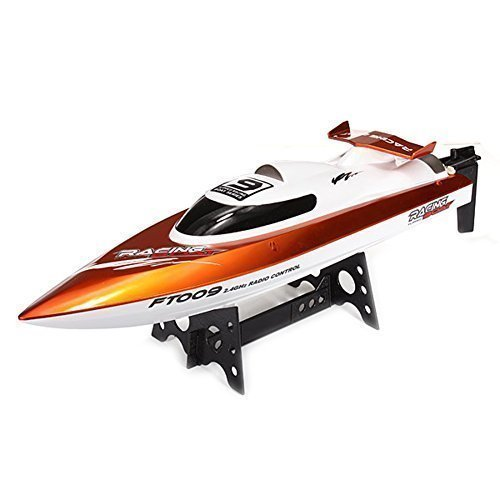 The Flyer's Bay FT009 2.4 G 4 Channel Wireless Remote Control RC Racing Boat With Flip In Water Function (Red)