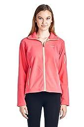 Columbia Big Girls\'  Fast Trek Fleece Full Zip Jacket, Afterglow, 14/16