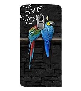 PrintDhaba Love Birds D-3216 Back Case Cover for LENOVO VIBE K4 NOTE (Multi-Coloured)