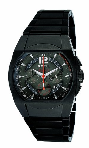 Breil Mens Watch BW0173 with Black IP Stainless Steel Bracelet and Black Dial