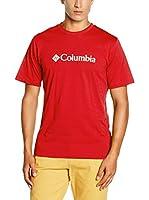 Columbia Camiseta Manga Corta CSC Basic Logo (Rojo)