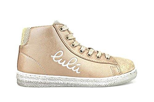 LULU' sneakers con cerniera bambine tessuto / camoscio (37 EU, oro)