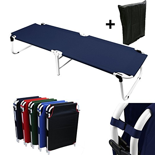 portable-military-fold-up-camping-bed-cots-free-storage-bag-5-colors-navy