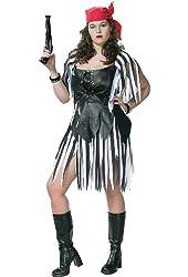 Women's Plus Size Piratess Costume