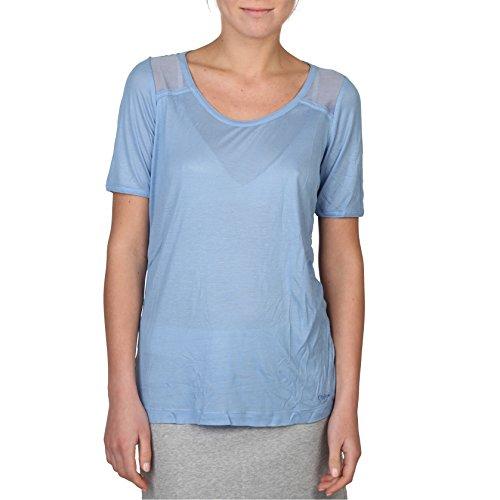 Chloé Chloe Damen T-Shirt, leicht durchsichtig, kurzärmlig (46 IT) (Blau)
