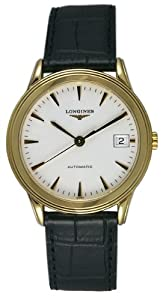 Longines Flagship Automatic 18kt Gold Mens Strap Watch Calendar L4.774.6.22.2