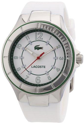 Lacoste 2000755 - Orologio da polso donna, silicone, colore: bianco