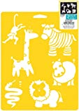 Plaid:Delta Stencil Mania, 7 by 10-Inch, Wild Animals