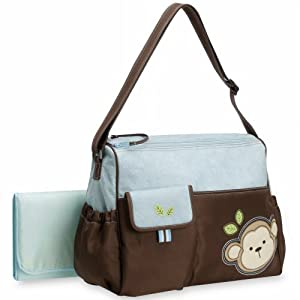 Okie Dokie Monkey Diaper Bag
