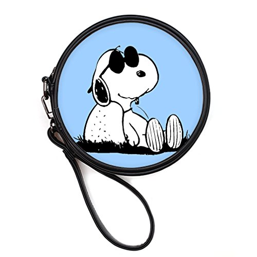 DONGMEN Christmas Gift Fashion Snoopy Design Shoulder Customized Round Makeup Bag (Twin Sides) (Amazon Vouchers Uk compare prices)