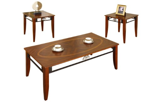 Buy Low Price Poundex 3 Piece Coffee Table Set Brown F3128 Coffee Table Bargain