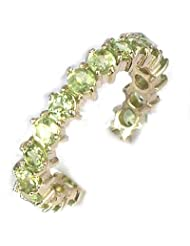 9ct Yellow Gold Ladies Peridot Full Eternity Ring - Size S - Finger Sizes L to Z Available by LetsBuyGold