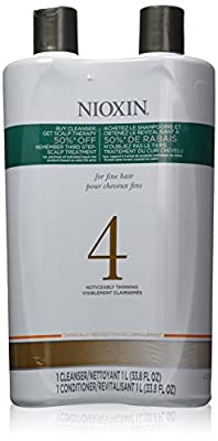 Nioxin System 4 Cleanser & Scalp Therapy Conditioner Fine Treated Set Duo