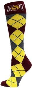Buy NCAA Arizona State Sun Devils Argyle Dress Socks, Maroon Gold Grey by Donegal Bay