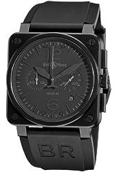 Bell and Ross Aviation Phantom All Black Dial Chronograph Mens Watch BR03-94-PHANTOM