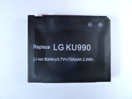 Akku für Mobil -Telefone LG HB620T Shine, KB770, KE998, KU990 Viewty Shine, CU915, CU920 (entspricht LGIP-580A, SBPL0091101)