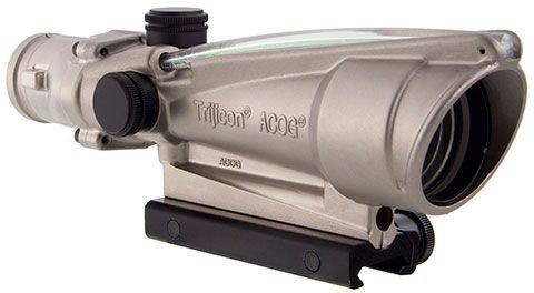 Acog Ta11-D-100205 3.5X 35 Nickel Boron Dual Illuminated Green Crosshair 0.223 Ballistic Reticle Scope With Ta51 Mount