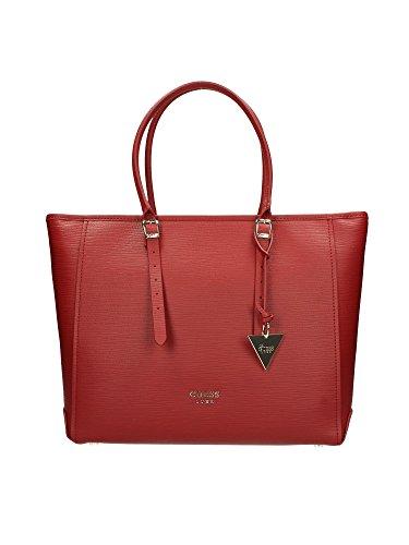 GUESS Lady Luxe Carryall, Borsetta da polso donna rosso rosso