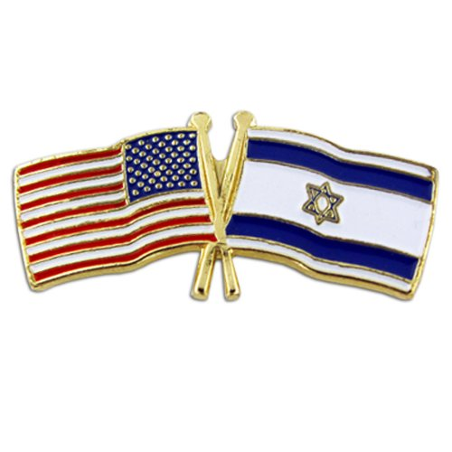 USA and Israel Crossed Friendship Flag Lapel Pin (World Flag Pins compare prices)
