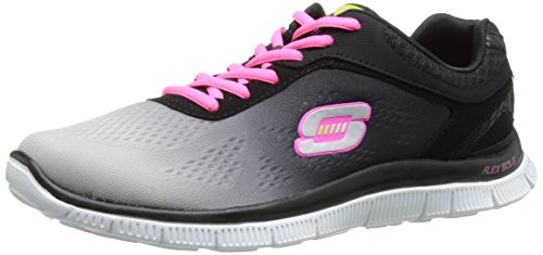 Skechers  Flex Appeal Style Icon,  Sneaker donna, Nero (Black - Schwarz (BKLG)), 36