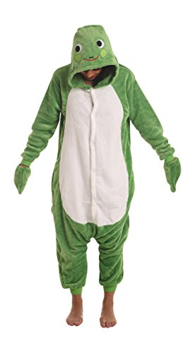 Frog Adult Onesie Fancy Dress Party Costume Play Suit One Piece Animal Pajamas