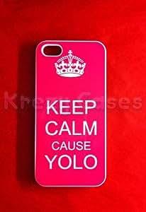"Krezy Case iPhone 6 Plus case, iPhone 6 Plus Case, Keep calm cause YOLO iPhone 6 Plus Cover, iPhone 6 Plus 5.5"" case, iPhone 6 Plus Case, Cute iPhone 6 Plus Case"