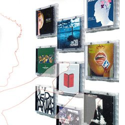 Cd wall tiles transparent display your cds as artwork for Cd mural wall display