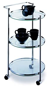 Organize It All 3-Tier Circular Serving Cart by Organize It All