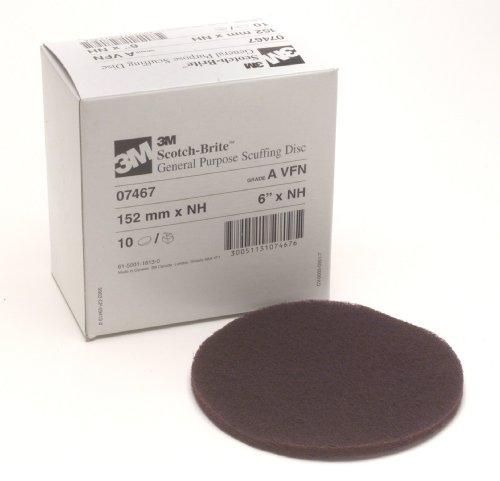 scotch-britetm-scuffing-disc-07467-aluminum-oxide-6-diameter-very-fine-grit-maroon-pack-of-10