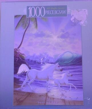 "Sunrise Run ""White Horses on the Beach"" 1000 Piece Puzzle"