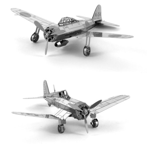Metal Earth 3D Laser Cut Models - Mitsubishi Zero AND F4U Corsair WWII Airplanes = SET OF 2 (Wwii Model Airplanes compare prices)