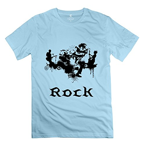 Jeff Men New Punk Rock T-Shirt Skyblue Small
