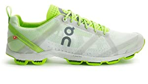 On Running Mens Cloudracer Running Trainers White/Lime (UK7.5 US8)