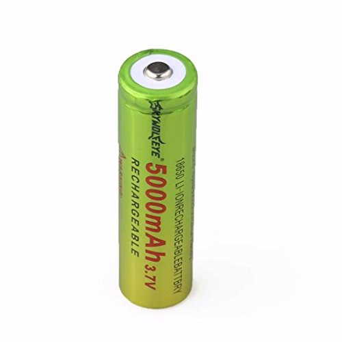 Covermason 1x3.7V 18650 5000mAh Li-ion Rechargeable batterie pour lampe torche