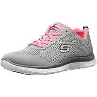Skechers Sport Women s Obvious Choice Fashion Sneaker Light Gray /Coral 9.5 B(M) US