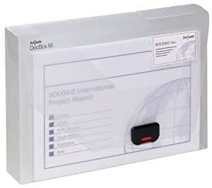 Snopake DocBox Box File Polypropylene with Push Lock 60mm Spine A4 Clear Ref 12871