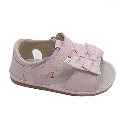 Amazon Angel Baby Girls Pink Double Bow Velcro Strap