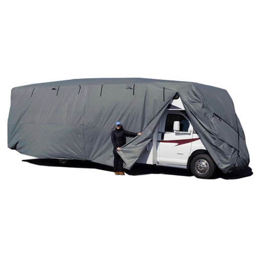 Budge Premier Class C RV Cover Fits Class C RVs up to 33' Long (Gray, Polyproplyene) (Rv Cover Budge compare prices)