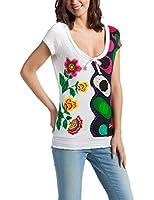 Desigual Alma - T-shirt - Empire - Imprimé - Col rond - Manches courtes - Femme